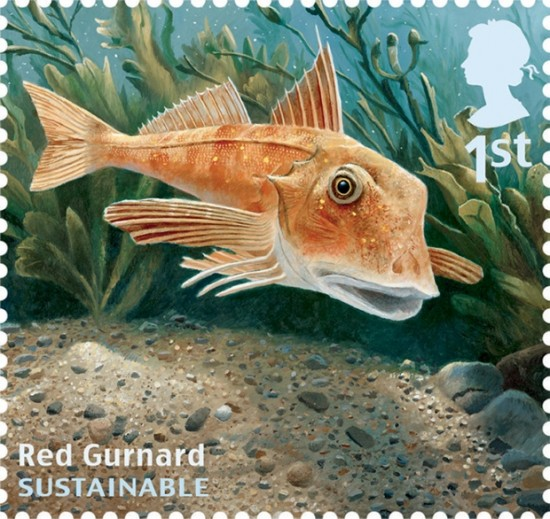 Sustainable fish stamp issue from royal mail panthalassa for Most sustainable fish