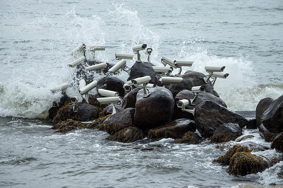Rock Camera Surveillance : Seaside surveillance cameras panthalassa panthalassa