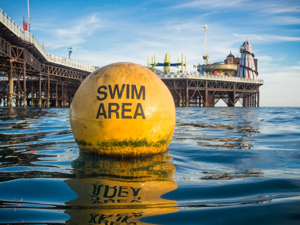 Swim Area Buoy and Brighton Pier